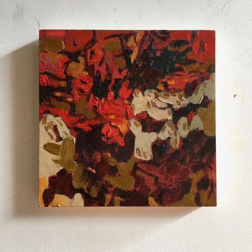 Cameleon | 20 cm x 20 cm x 1.5 cm | Oil on board