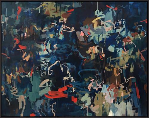 Evenfall Lush | 125 cm x 155 cm | Framed | Oil and acrylic on canvas