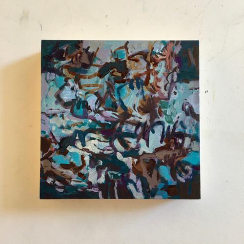 Promise | 20 cm x 20 cm x 3.5 cm | Oil on timber block
