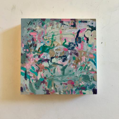 Scattering | 20 cm x 20 cm x 3.5 cm | Oil on timber block