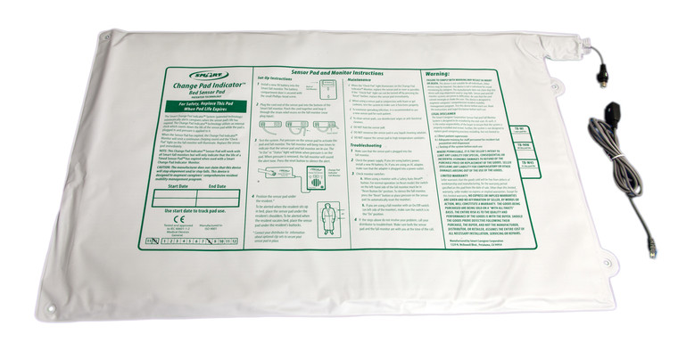 """Timed Bed Sensor Pad 20"""" x 30"""" - 90 Day"""