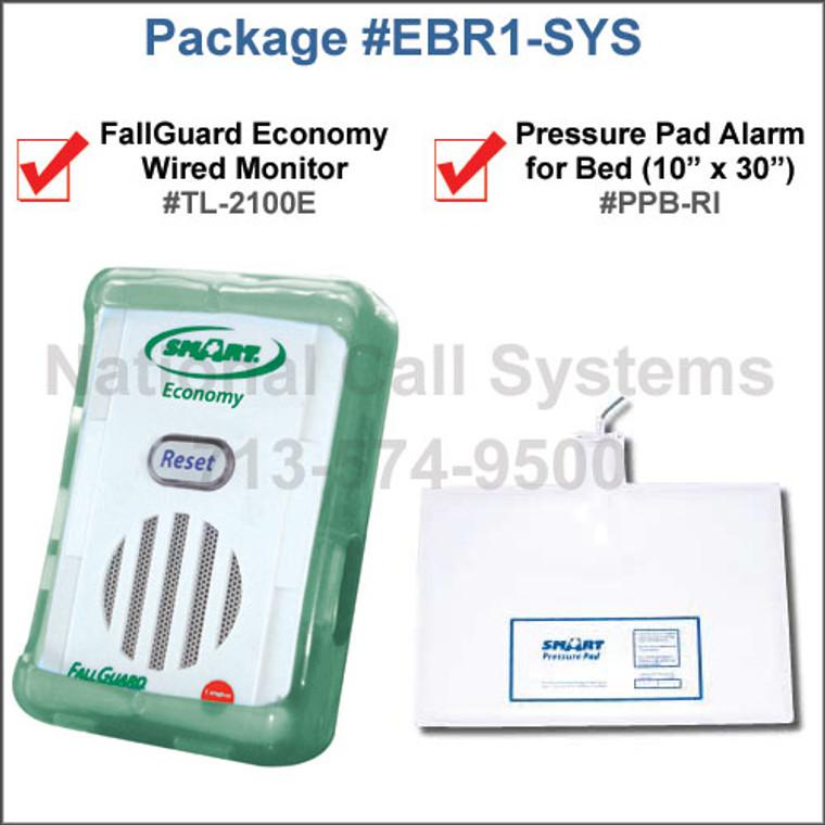 Fallguard Economy Monitor TL-2100E + Pressure Pad for Bed PPB-RI