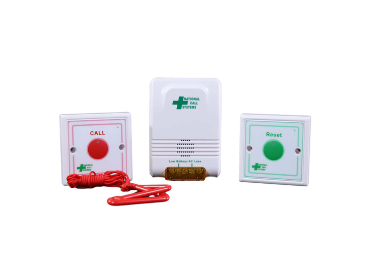 Bathroom Emergency Pull Cord System with Wireless Alarm