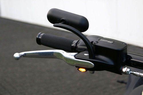 Elypse LED Turn Signals black on bike