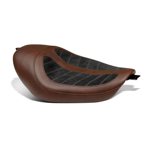 Kodlin Skyline Seat for Sportster models, Brown w/Black