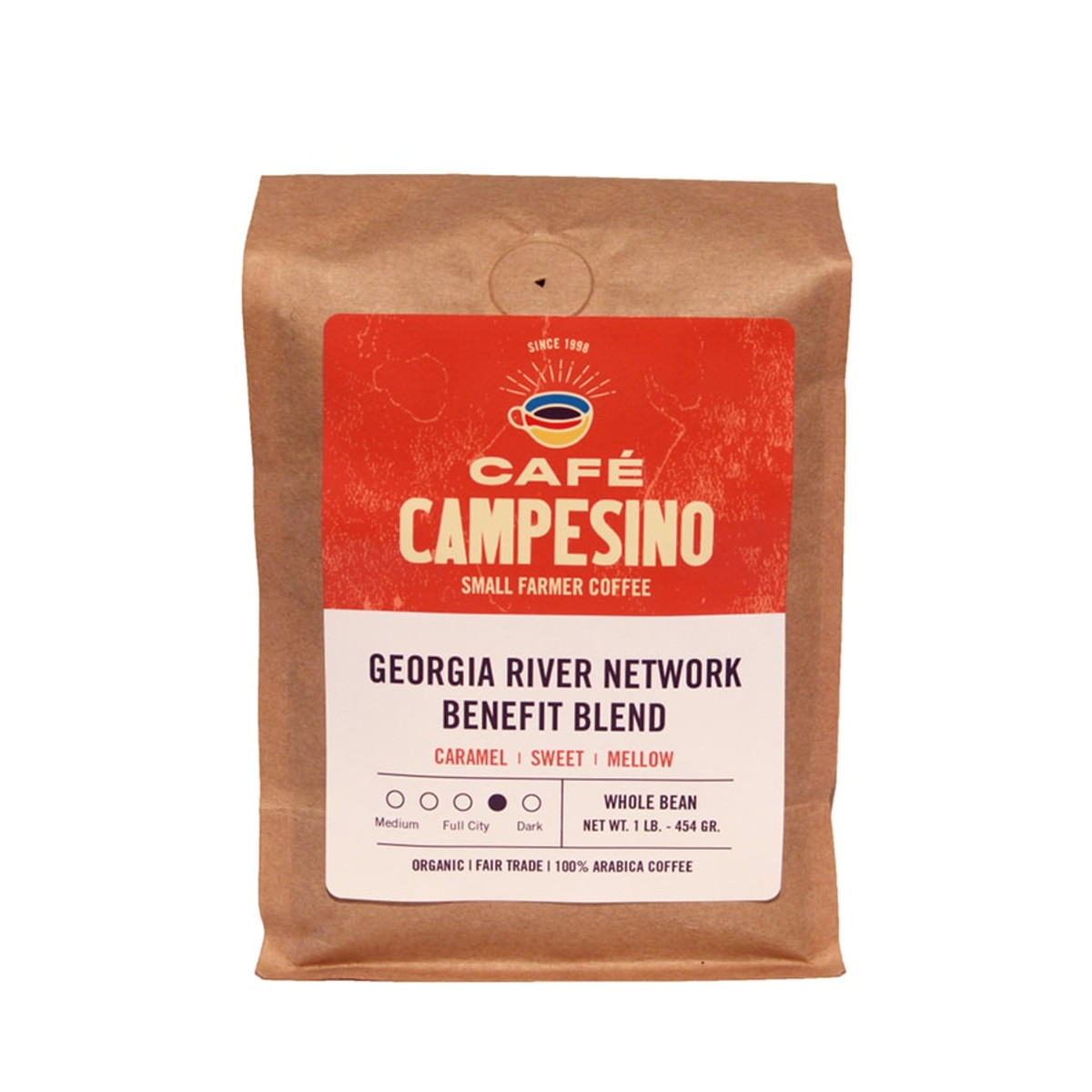 A robust blend of Latin American and Indonesian coffees. When you buy this blend, we will donate 10% of your coffee sale to the Georgia River Network to support the work they do to ensure a clean water legacy in all of Georgia's rivers.