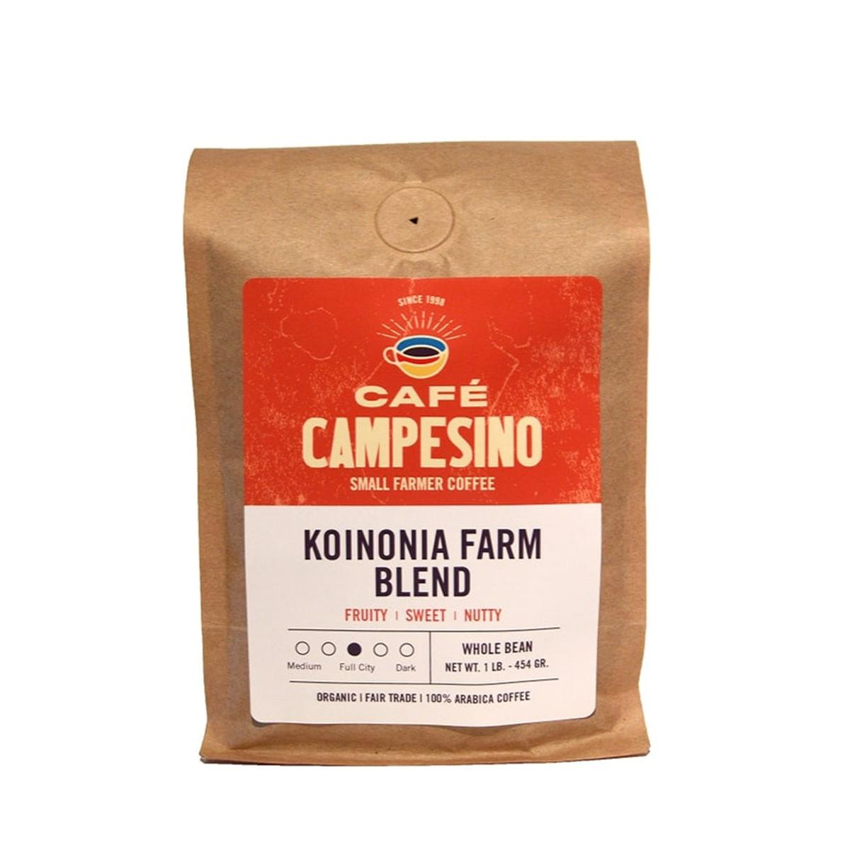 Koinonia Farm coffee blend is fair trade, organic and delightfully well balanced.