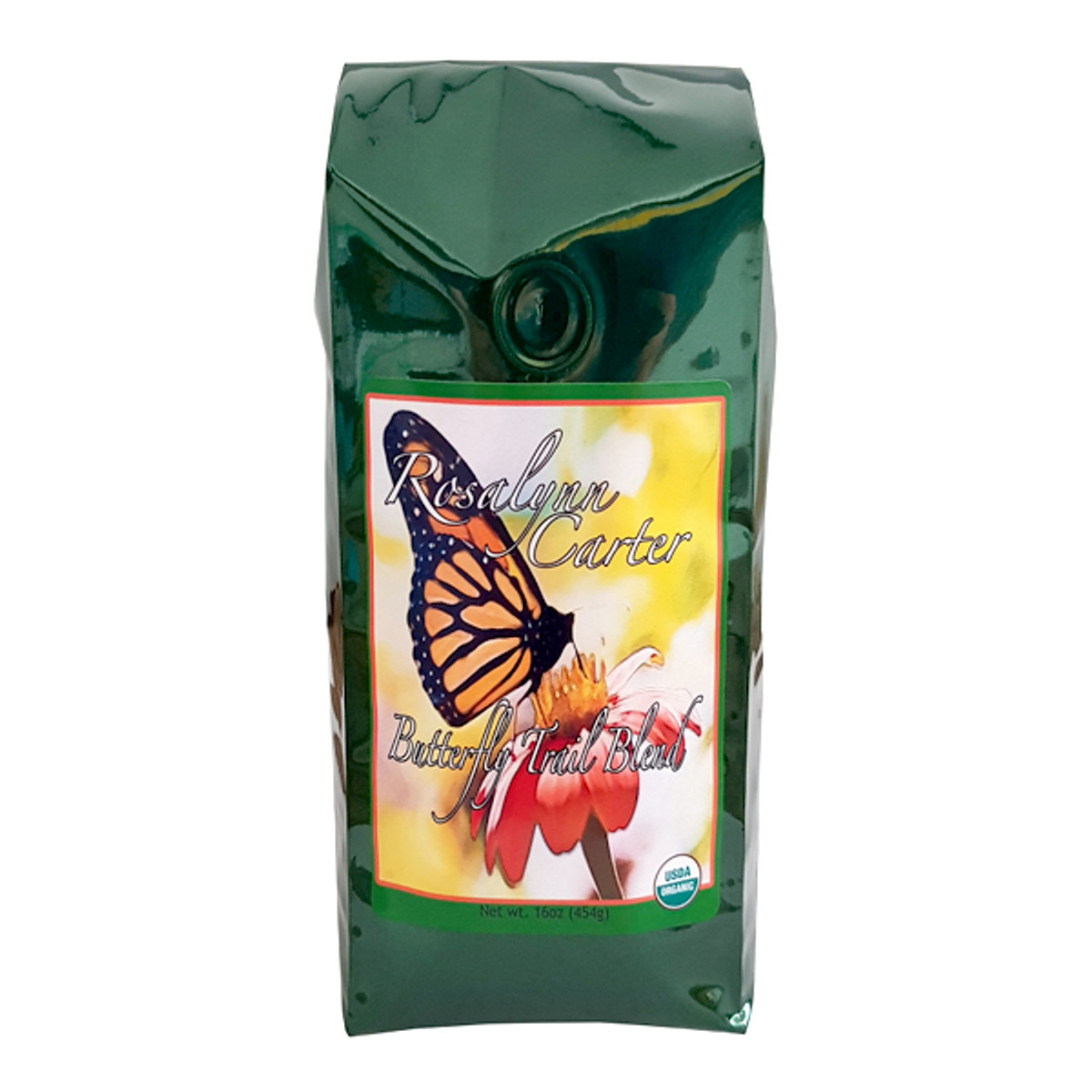 A blend of Colombia Medium, Sumatra Viennese, and Nicaragua Medium Roasts created in honor of the Rosalynn Carter Butterfly Trail