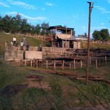 Drying stations used to dry pergamino in Sidama Ethiopia.