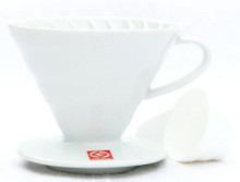 Hario V60 Coffee Dripper - Size 02 - White Ceramic