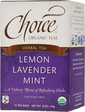 Choice Lemon Lavender Mint Tea (caffeine free)