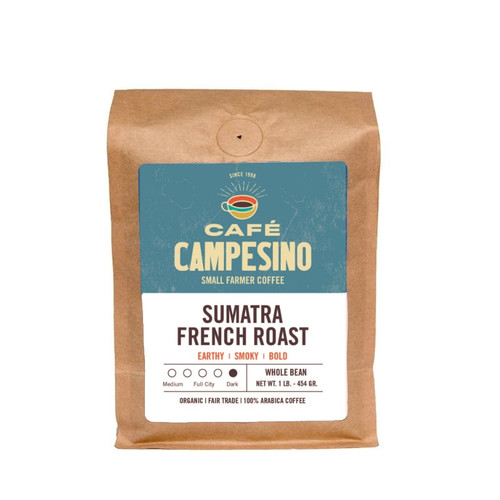 Sumatra French Roast coffee is available as a subscription or for a one-time purchase.