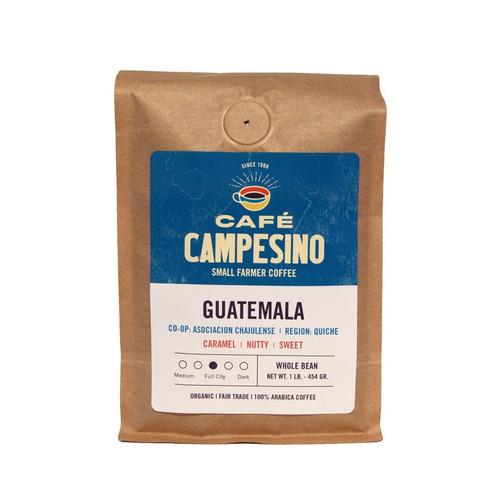 Fair trade, organic, shade-grown, arabica coffee grown by the Asociación Chajulense farmer cooperative in Chajul, Guatemala.