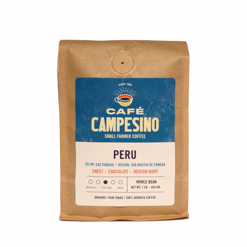 Peru Viennese Coffee is a smooth, easy-to-drink coffee hand picked by small-scale farmers from the CAC Pangoa cooperative.