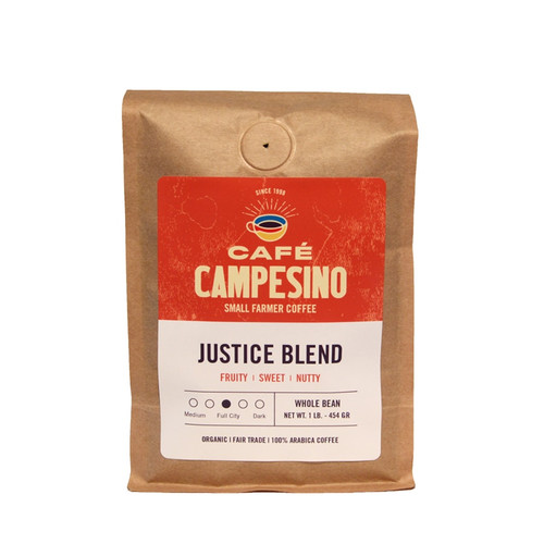 A blend of fair trade, organic, shade-grown coffees from Latin America and Indonesia with a medium body, medium acidity, and a nutty fragrance with a fruity, sweet, aroma and flavor.