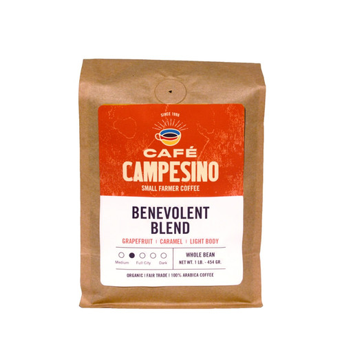 This is a blend of fair trade and organic light-bodied coffees from Central and South America and Sumatra, Indonesia with a sweet, fruity fragrance, a fresh, sweet aftertaste, and a gentle, slightly tart acidity.