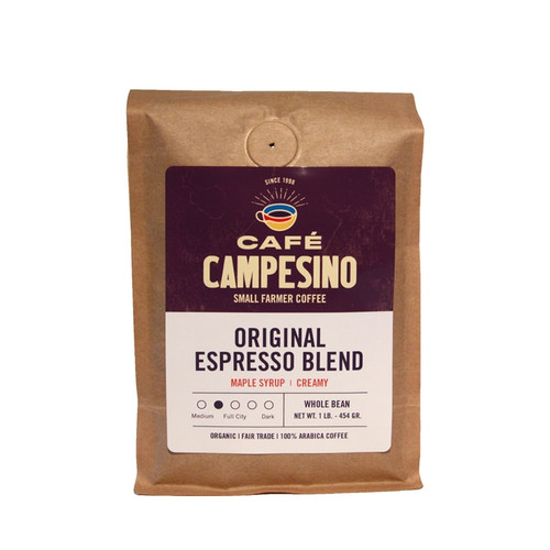 Our proprietary espresso blend is combined with Central American light roasted beans to create a bright espresso blend with a rich, tan crema.