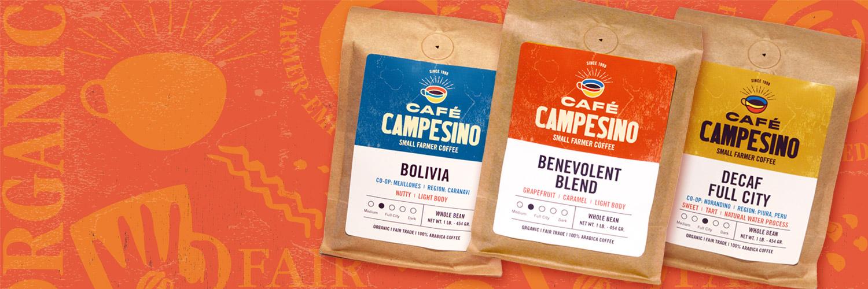 Fair Trade Organic Coffee bag banner