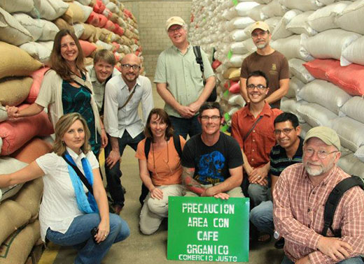 Café Campesino staff tour the facilities of a Fair Trade coffee producing partner in Guatemala