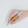 Bolt Action Pencil(Chrome) - Curly Maple