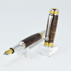 Majestic Fountain Pen(22kt Gold/Rhodium) - Curly Koa