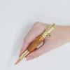 Bolt Action Pencil(Gold) - Curly Maple