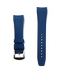 Fitted Luxury Rubber Strap- Blue