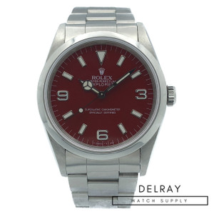 Rolex Explorer 14270 *Custom Red Apple Dial* *With Papers*