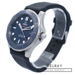 Omega Seamaster Professional Ceramic Blue Dial On Strap