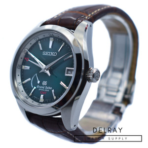 Grand Seiko Spring Drive GMT Green Dial SBGE033 *Limited Edition*