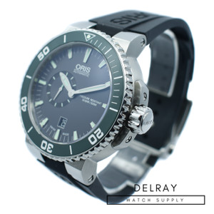 Oris Aquis Small Second Green Ceramic