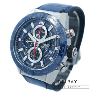 Tag Heuer Carrera Calibre Heuer 01 Blue Skeleton *ON SPECIAL*
