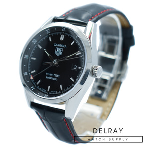 Tag Heuer Twin Time GMT Black Dial *Bracelet Included*