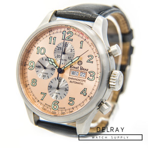 Ernst Benz Chronoscope Chronograph Salmon Dial *ON SPECIAL*