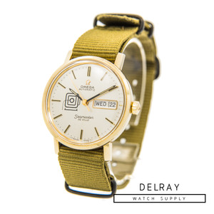 """Vintage Omega Seamaster Deville """"Daily News"""" Anniversary Watch"""