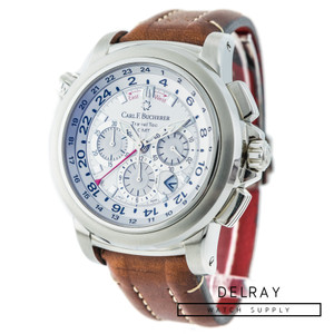 Carl F Bucherer Patravi TravelTec GMT on Strap