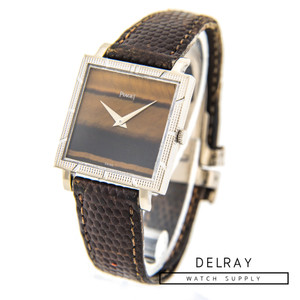 Vintage Piaget 18k White Gold Tiger Eye Dial