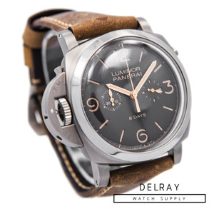 Panerai Luminor 1950 Chrono Monopulsante Destro 8 Days Titanio PAM579
