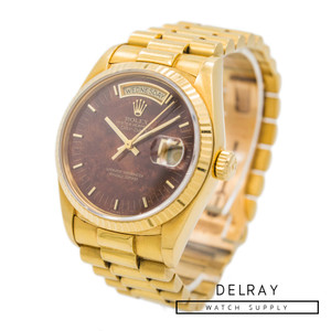 Rolex Day Date 18038 Burl Wood Dial *Rare* *ON SPECIAL*