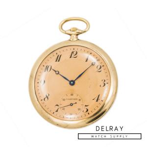 Vintage Cartier Pocket Watch Salmon Dial