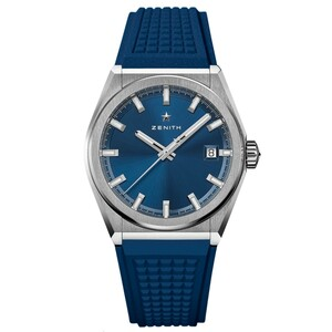 New Zenith Defy Classic Blue Dial on Rubber Strap