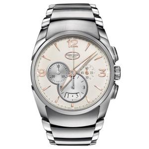 New Parmigiani Fleurier Tonda Metrographe Grained White Dial on Bracelet