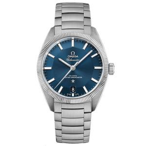 New Omega Constellation Globemaster Blue Dial on Bracelet