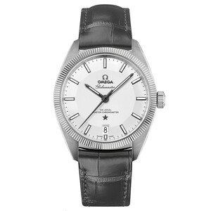 New Omega Constellation Globemaster Silver Dial on Strap