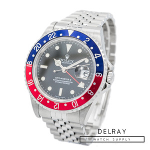 Rolex GMT Master 16710 Pepsi D Serial *Box and 2018 Service Papers*