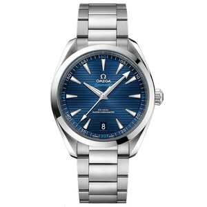 New Omega Seamaster Aqua Terra 150M Co-Axial Master Chronometer  41 Blue Dial on Bracelet