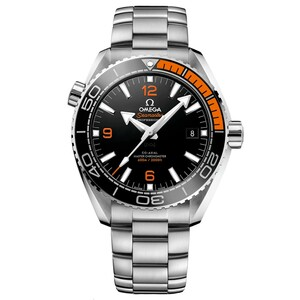 New Omega Seamaster Planet Ocean 600M Omega Co-Axial Master Chronometer Black Dial Gold Accents