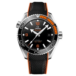 New Omega Seamaster Planet Ocean 600M Omega Co-Axial Master Chronometer Black Dial on Strap