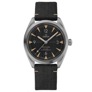 New Omega Seamaster Railmaster Co-Axial Master Chronometer Black Dial on Strap