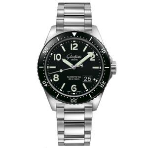 New Glashütte Original Seaq Panorama Date Black Dial on Bracelet